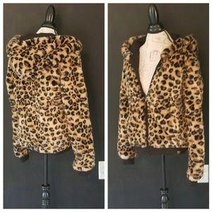 VS PINK leopard jacket
